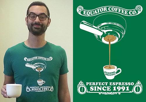 """Equator Coffee """"Perfect Espresso"""" T-Shirt"""